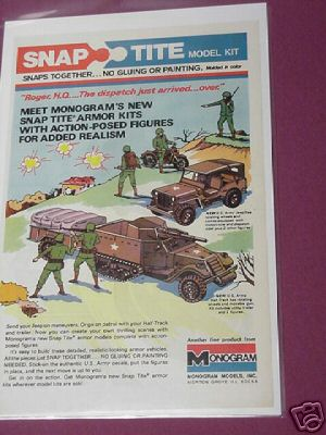 1976 Monogram Snap-Tite Military Armor Kits Color Ad