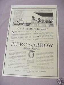 1917 Ad Pierce-Arrow Motor Trucks Buffalo, N. Y.