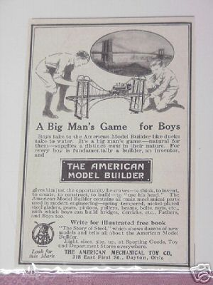 1914 Ad The American Mechanical Toy Co., Dayton, Ohio