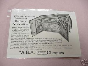 1918 Ad American Bankers Association Checks
