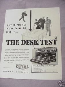 1937 Royal Typewriter Ad The Desk Test