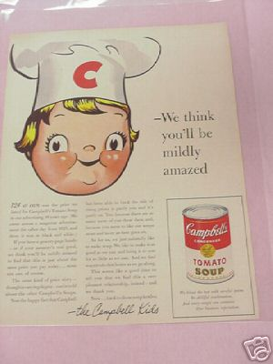 1955 Campbell's Tomato Soup Color Ad Campbell Kids