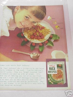 1955 Kellogg's Rice Krispies Full Page Color Ad