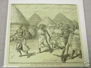 1889 Africa Illustrated Page Chief Teaching Manners