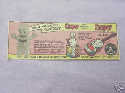 1964 Ad Casper The Friendly Ghost Mattel Toys