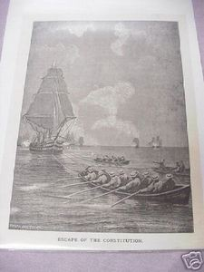 War of 1812 Constitutions Escape 1887 Illustrated Page