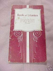 Book of Litanies 1925 Catholic Softcover Book