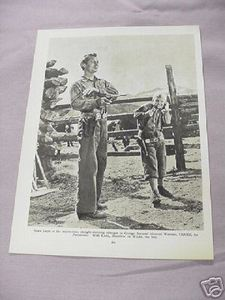 1955 Illustrated Page Alan Ladd in Shane