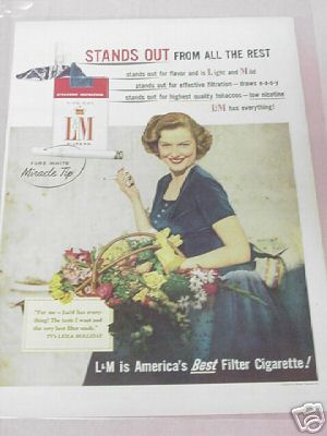 1955 Cigarette Ad L&M Stands Out From All the Rest