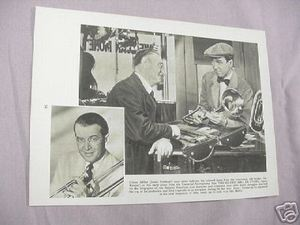 1955 Illustrated Page James Stewart in The Glenn Miller Story