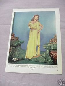 1955 Color Illustrated Page Susan Hayward Jean Peters