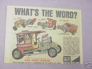 1970 MPC Pop Corn Wagon Plastic Model Kit Ad