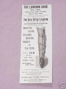 1900 Ad The New Strap Legging The London Shoe Co., Ltd.