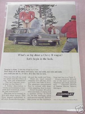 1965 Chevrolet Color Ad Chevy II Wagon