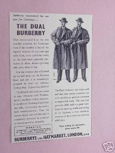 1939 Ad The Burberry Overcoat The Dual Burberry