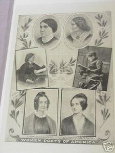 1897 Illustrated Page-Women Poets of America