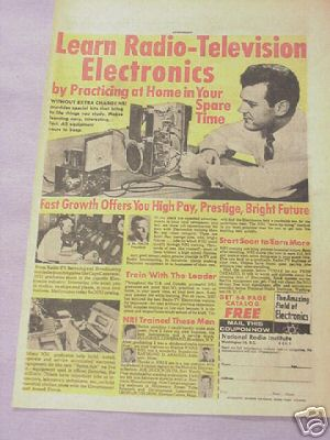 1963 Ad Learn Radio Television Electronics