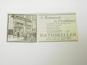 1927 Ad Rathskeller A Restaurant in Providence