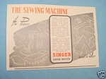1945 South Africa Ad Singer Sewing Machine