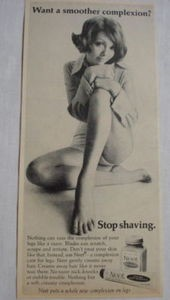 1969 Neet Cream Hair Remover Ad Want A Smoother Complexion? Stop Shaving