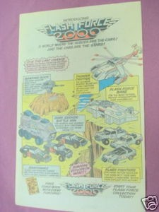 1984 Ad Flash Force 2000 Where the Heroes Are the Cars