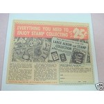 1958 Ad Zenith Stamp Company Album & Stamp Collection