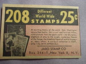 1959 Ad Jaro Stamp Co.