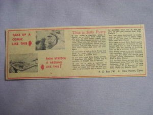 1959 Ad Silly Putty Take Up a Comic Like This Then Stretch It Around Like This