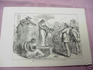 1900 Illustrated Page Slave Auction & Inventors