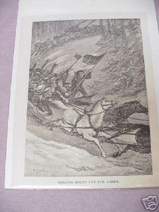 War of 1812 Sailors Lakes Bound 1887 Illustrated Page