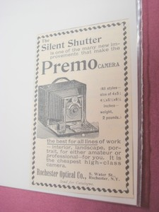 1894 Ad-Premo Camera, Rochester Optical Co., Rochester