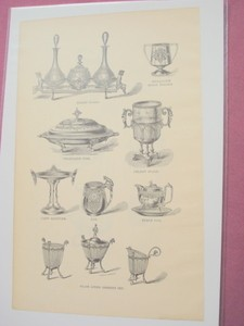 1880 One Page Illustration 8 Table Serving Pieces