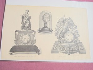 1880 One Page Illustration Mantle Clocks
