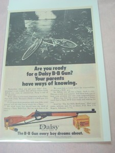 1973 Ad Are You Ready For a Daisy BB Gun?