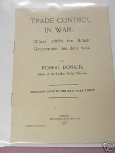 Trade Control In War WWI 1916 World War I Booklet